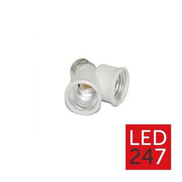 E27 Hvid dobbelt fatning - LED247
