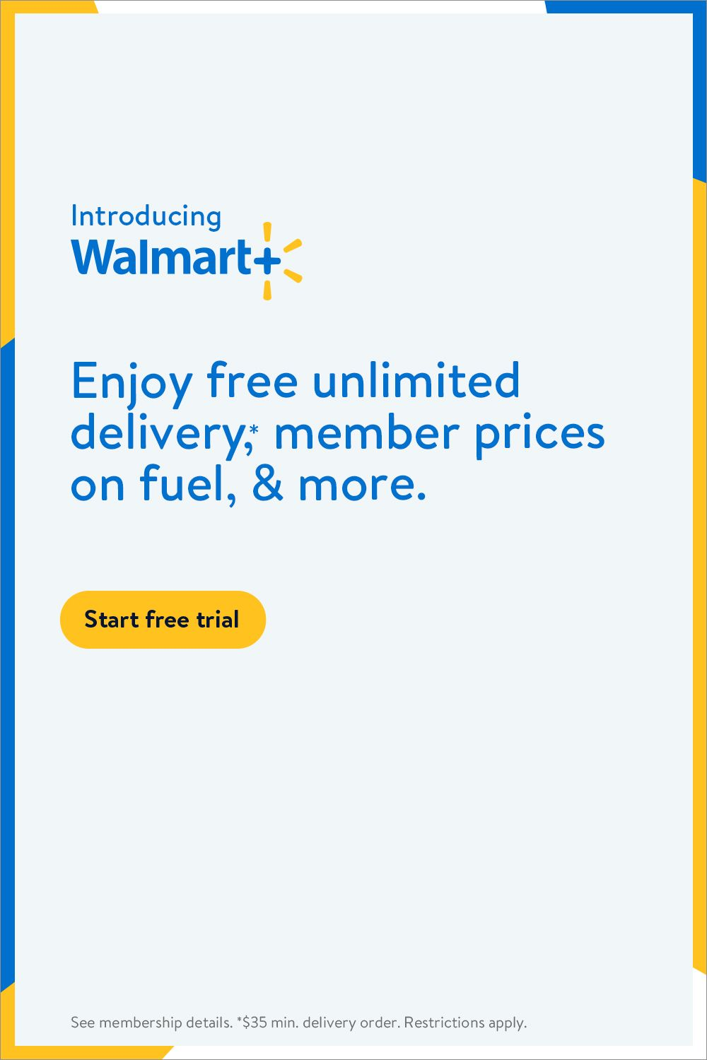 Time is money. Walmart+ saves you both.