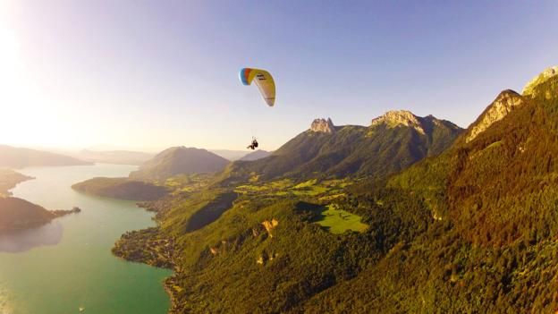 DREAM: Paragliding in Annecy, France, with views of the French Alps (Credit: Credit: Aileen Adalid)