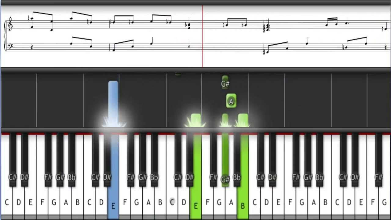 River flows in you piano tutorial synthesia bellas