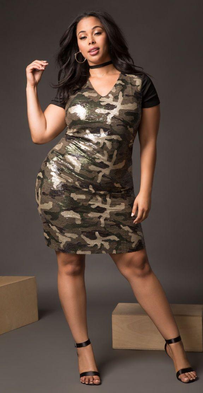 Plus Size Sequin Camo Dress Plus Size Cute Pinterest Camo