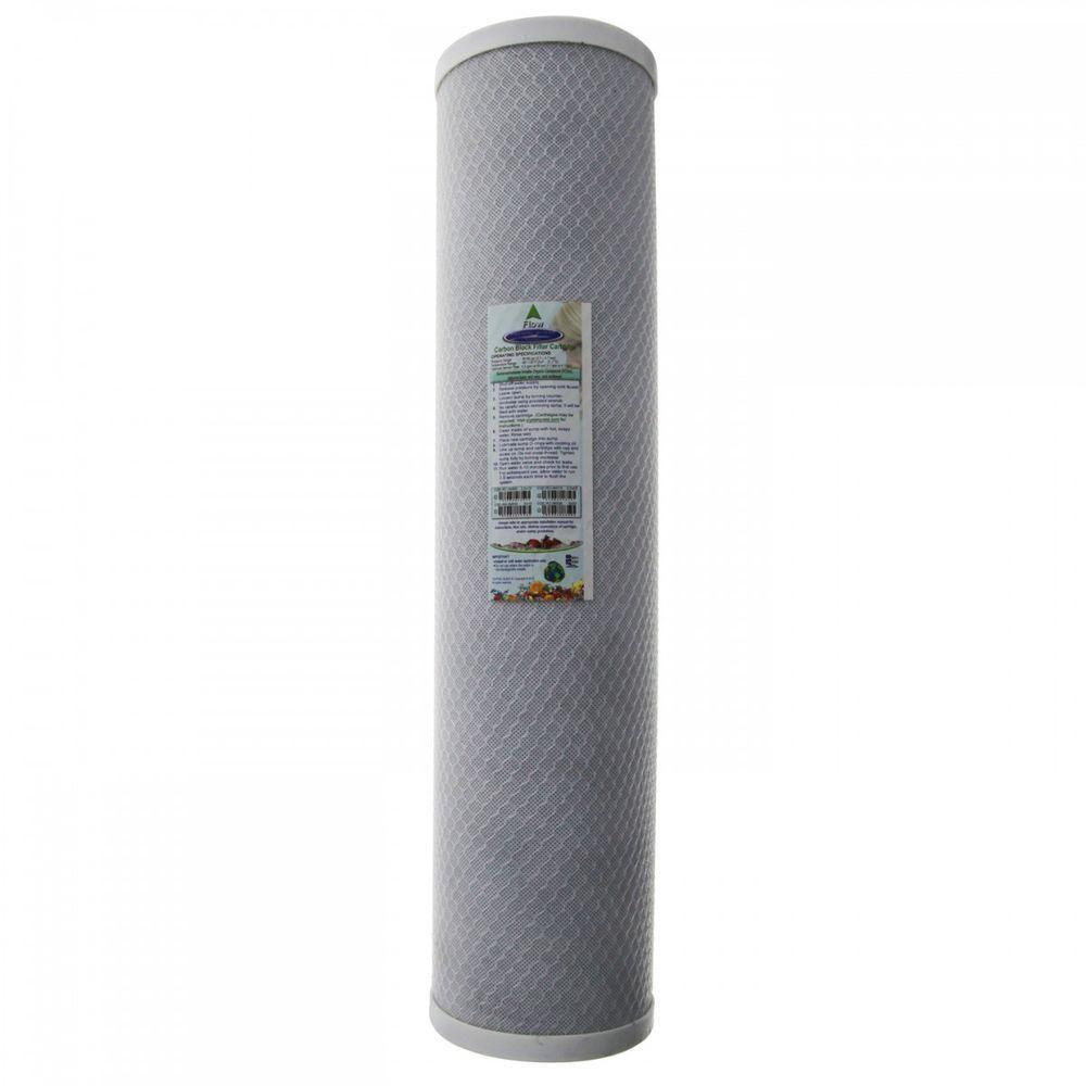 20 in. x 4-5/8 in. Carbon Block Water Filter Cartridge, White