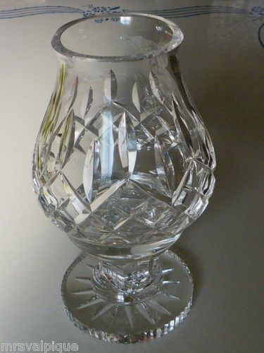 Vintage Waterford Crystal Lismore Fairy Lamp Candle Stick