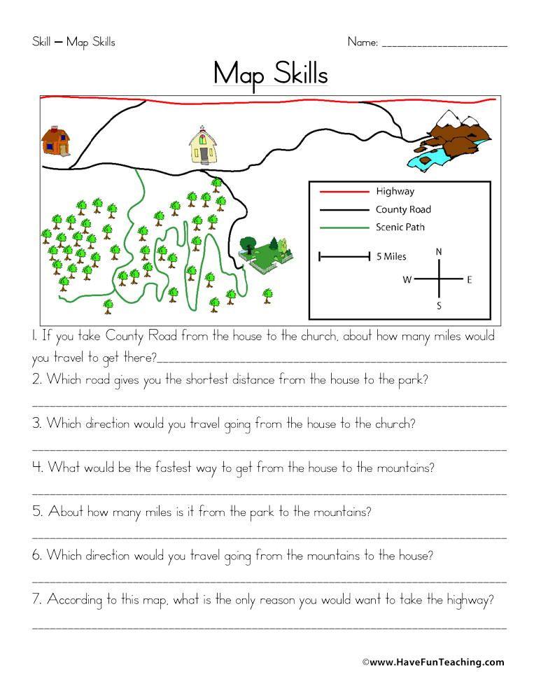 Worksheets Have Fun Teaching Map Worksheets Map Skills Map Skills Worksheets