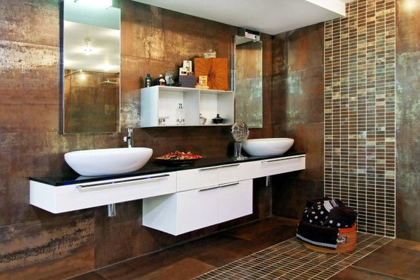 Pretty Tile Metallic Tiles Bathroom Amazing Bathrooms Tile Bathroom