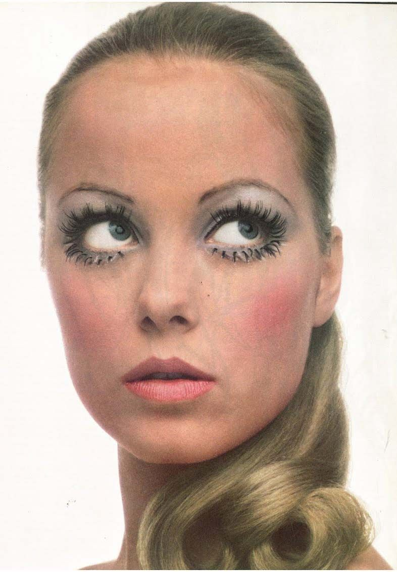 1960s #60s #mod #makeup #lower #bottom #lashes #vintage