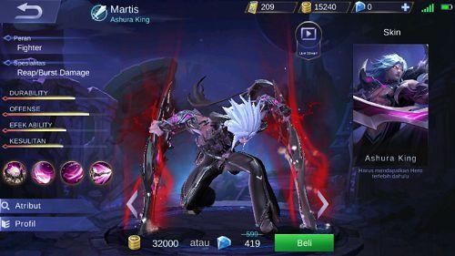 Superb Hero Baru Martis Ashura King Mobile Legend   Selamat Tinggal Alucard?