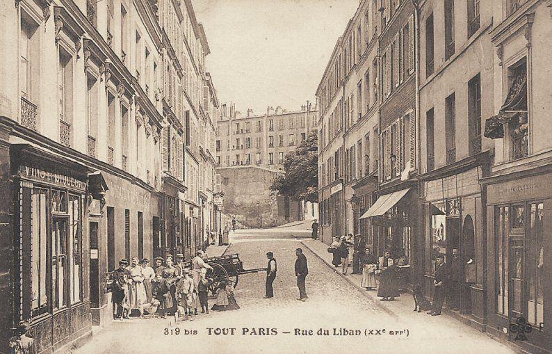 Rue Du Liban Paris 20eme Paris Vieux Paris Rue