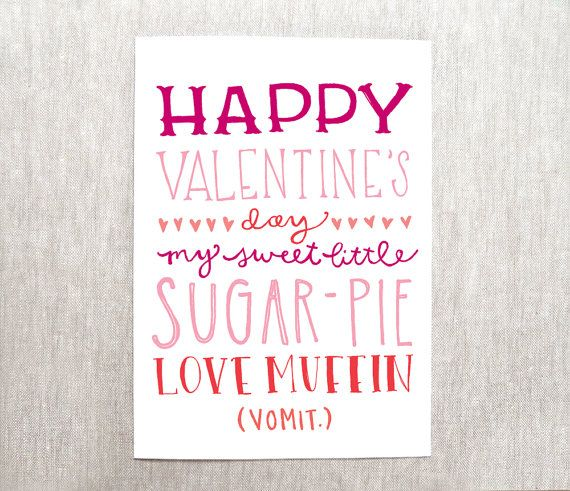 funny valentines day card recycled paper on Etsy 400 – Valentines Day Cards for Dad