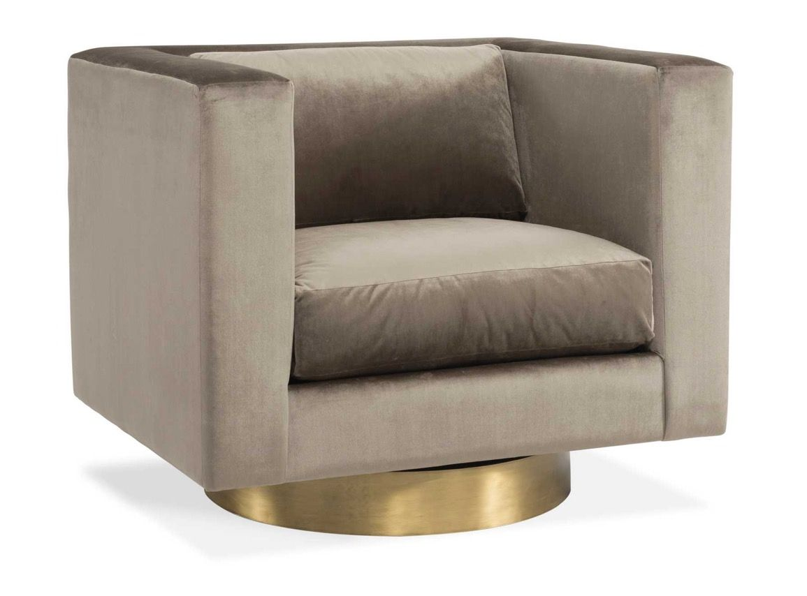 Buy Carson Swivel Chair By Gilded Home   Quick Ship Designer Furniture From  Dering Hallu0027s Collection