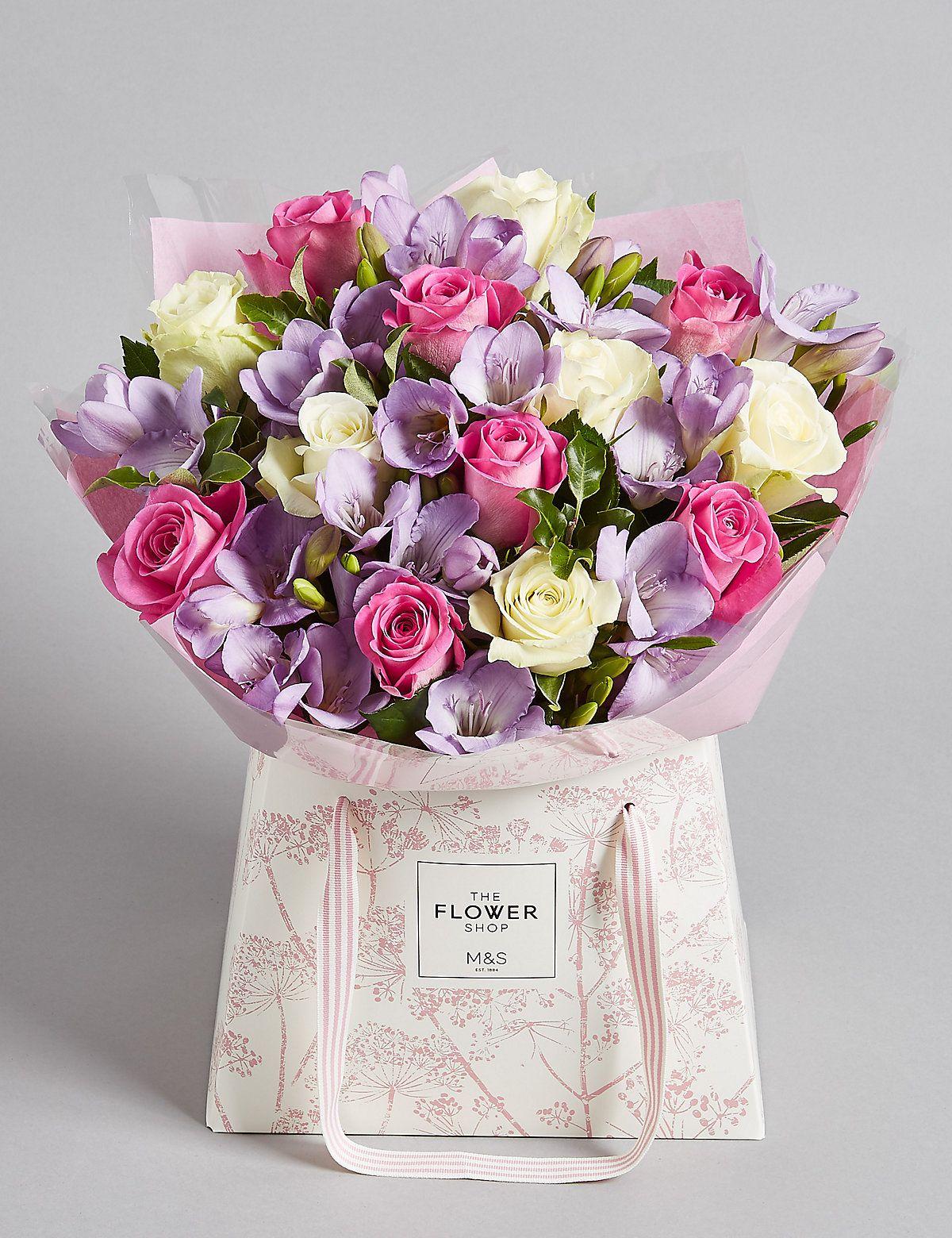 Rose & Freesia Gift Bag | M&S | Gifts, Gift bag, Freesia