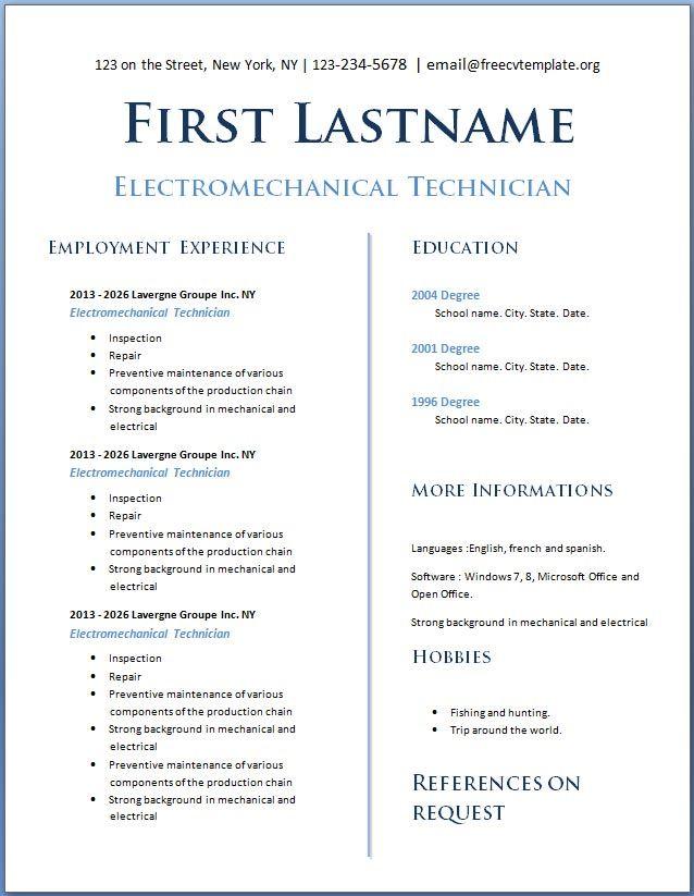 Cv Template Teenager Cv Template Pinterest Resume layout
