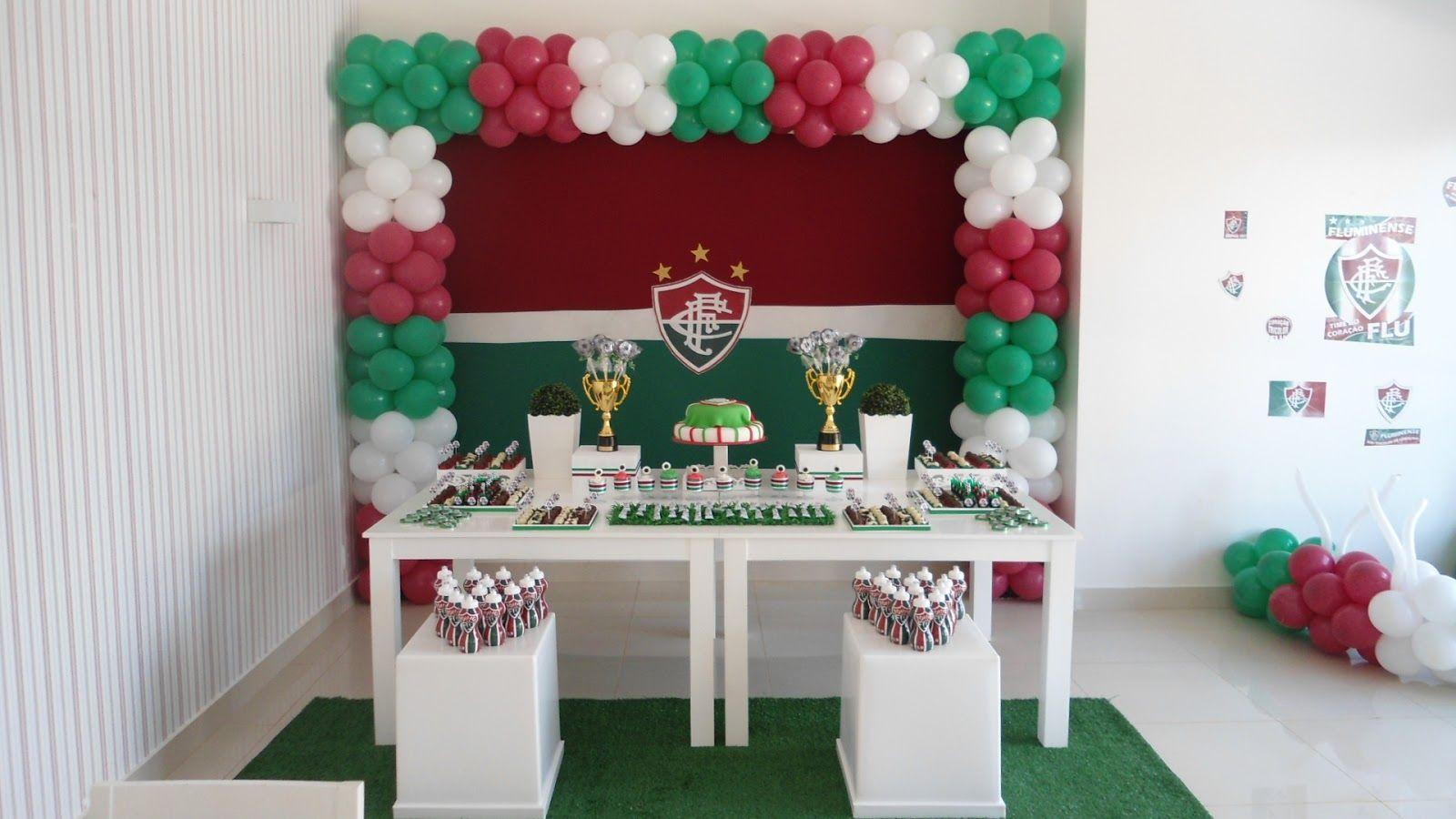 1ca65b678c1 Clean - Fluminense Festa Infantil Futebol, Festa De Futebol, Aniversário  Tema Futebol, Decoração