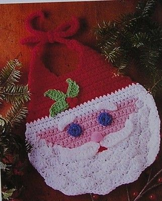 Santa Bib Baby Infant Crochet