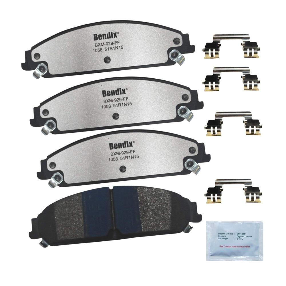 Disc Brake Pad Set-Fleet Metlok Semi-Metallic SDR Disc Brake Pad Rear,Front
