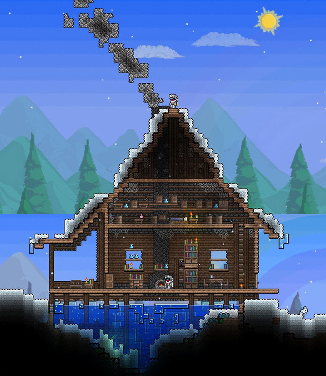 Pin By D G On Terraria: GOD!!!So Cool.My Houses Are So Not.