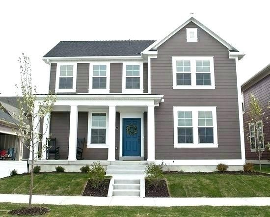 Dark Brown Brick House Trim Colors Front Door For Doors A With Blue Siding Home Interior Design Pictures