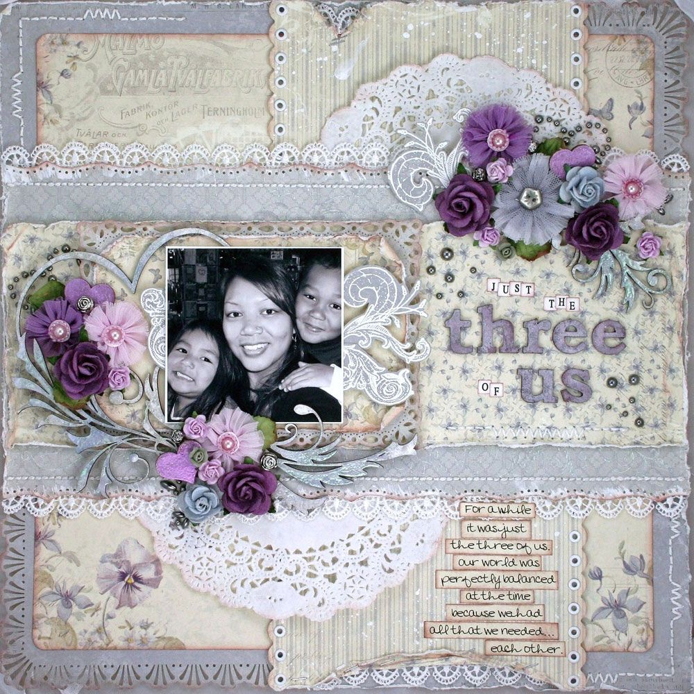 A layout, featuring the For Mother collection