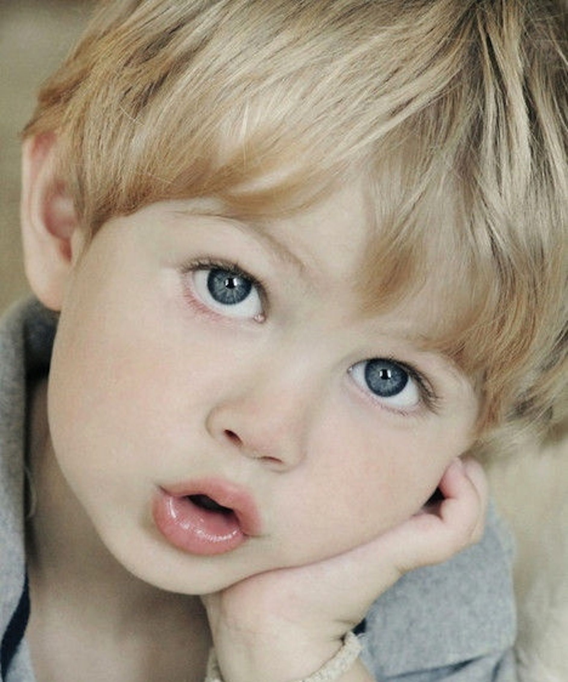 's sweet little boy with blonde