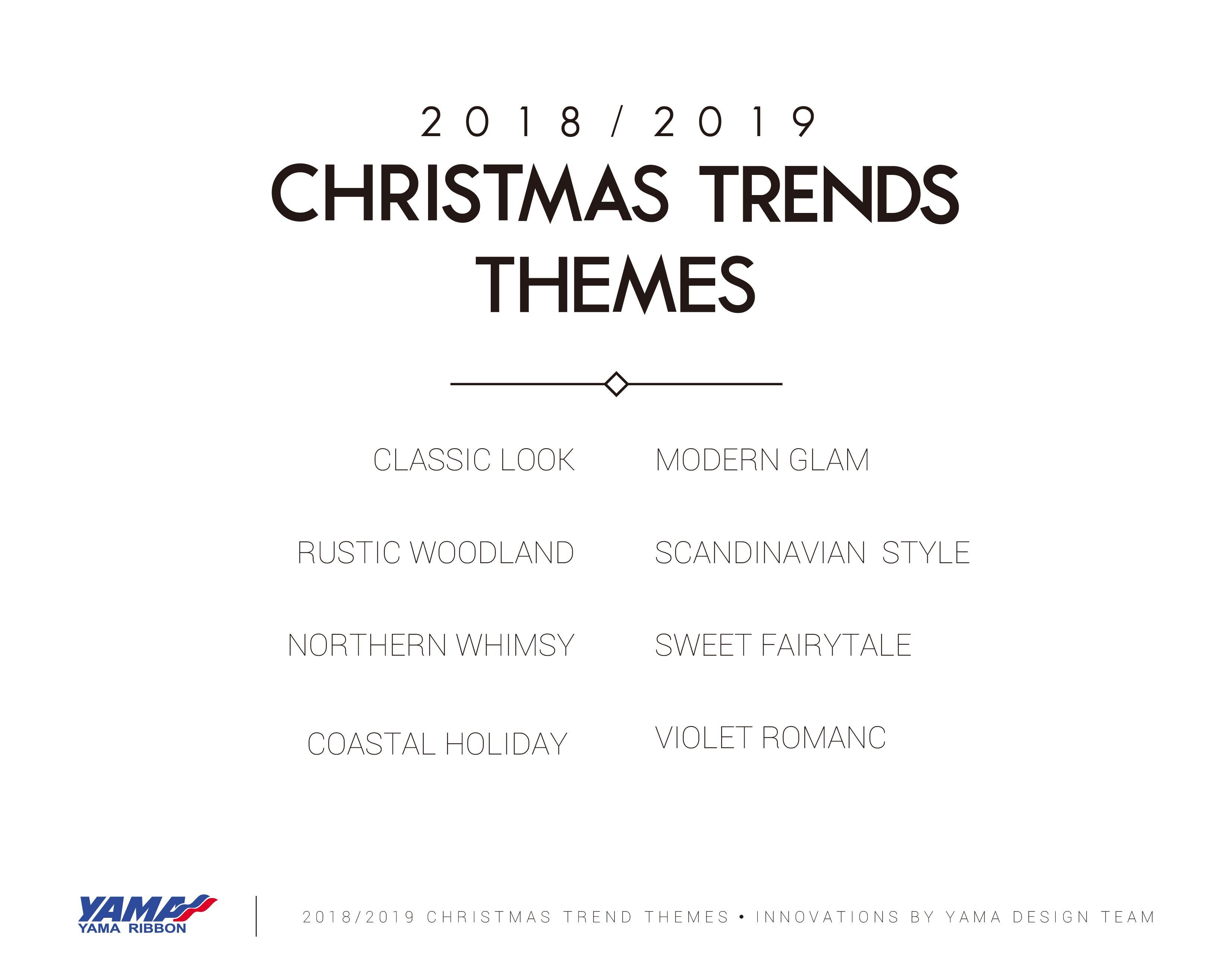 Holiday Christmas Trends 2019.2018 2019 Yama Christmas Trends Christmas Trends