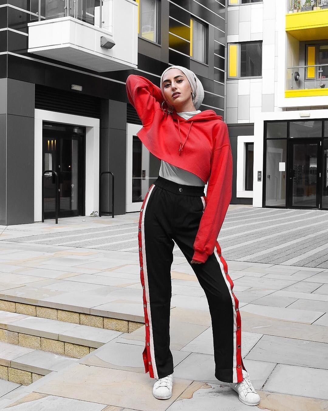 Style Hoodie Crop Hijab