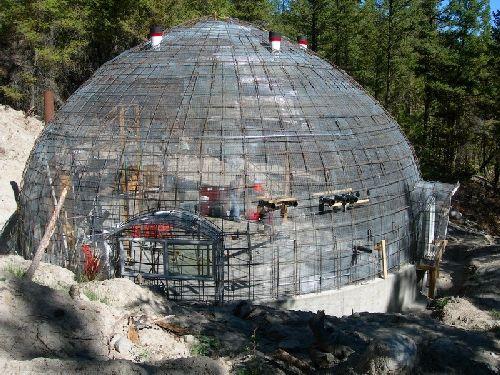 Exterior Of Steel Framework For Dome Diva S Monolithic