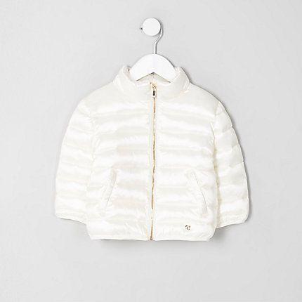 Mini girls cream puffer jacket Baby Girl Jackets 4a5f334fb055
