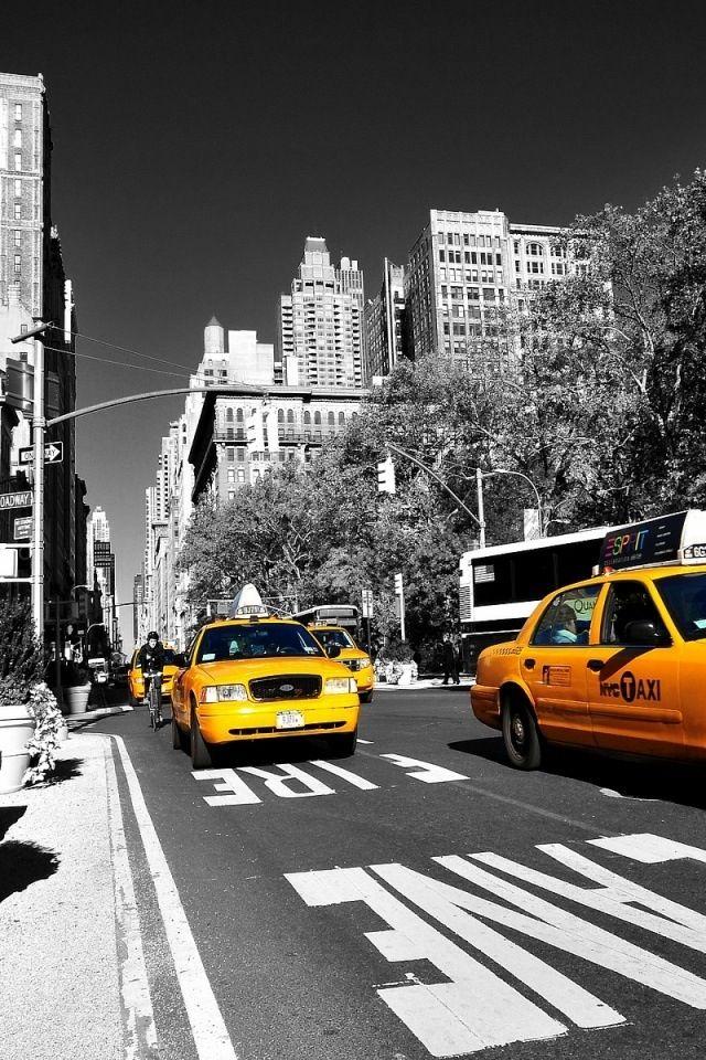 Yellow Taxi New York City Taxis Stöcke