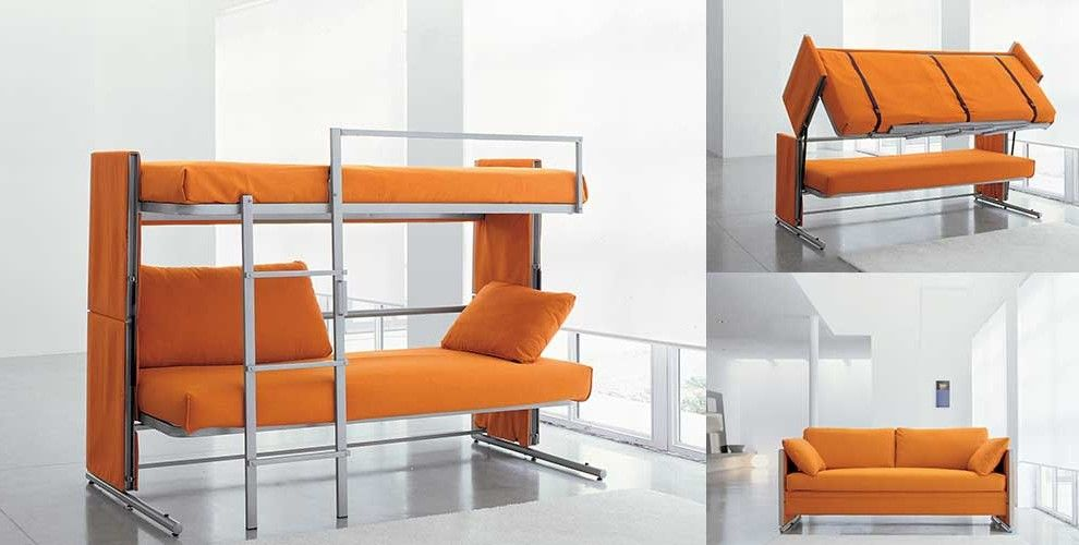 Convertible Bunk Bed Couch Folds Out Into A Double Decker Bed Couch Bunk Beds Sofa Bed Design Convertible Bunk Beds