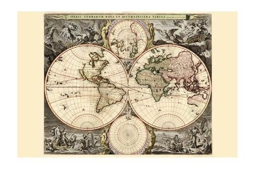 world map print black framed poster print 20x30 products