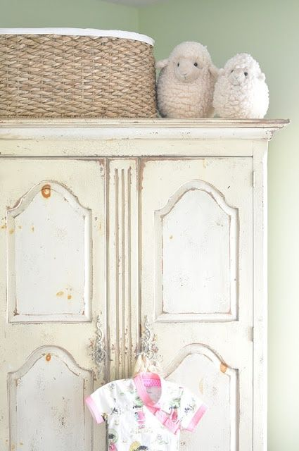 Shabby Armoire   Distressed  Repurposed  Beauty For Baby
