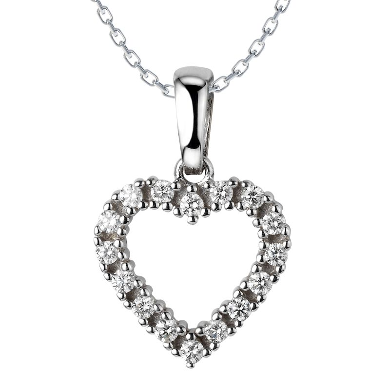 Phoebe Diamond Necklace: Rs.9,131    #Diamond #Necklace #Heart #Love