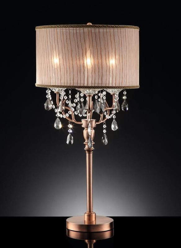 Ok Lighting Ok 5126t Rosie Crystal Table Lamp Chandelier Table