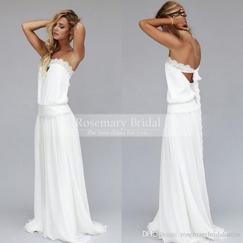 Vintage Bride Dresses 1920s Beach Wedding Dress Cheap Dropped Waist ...
