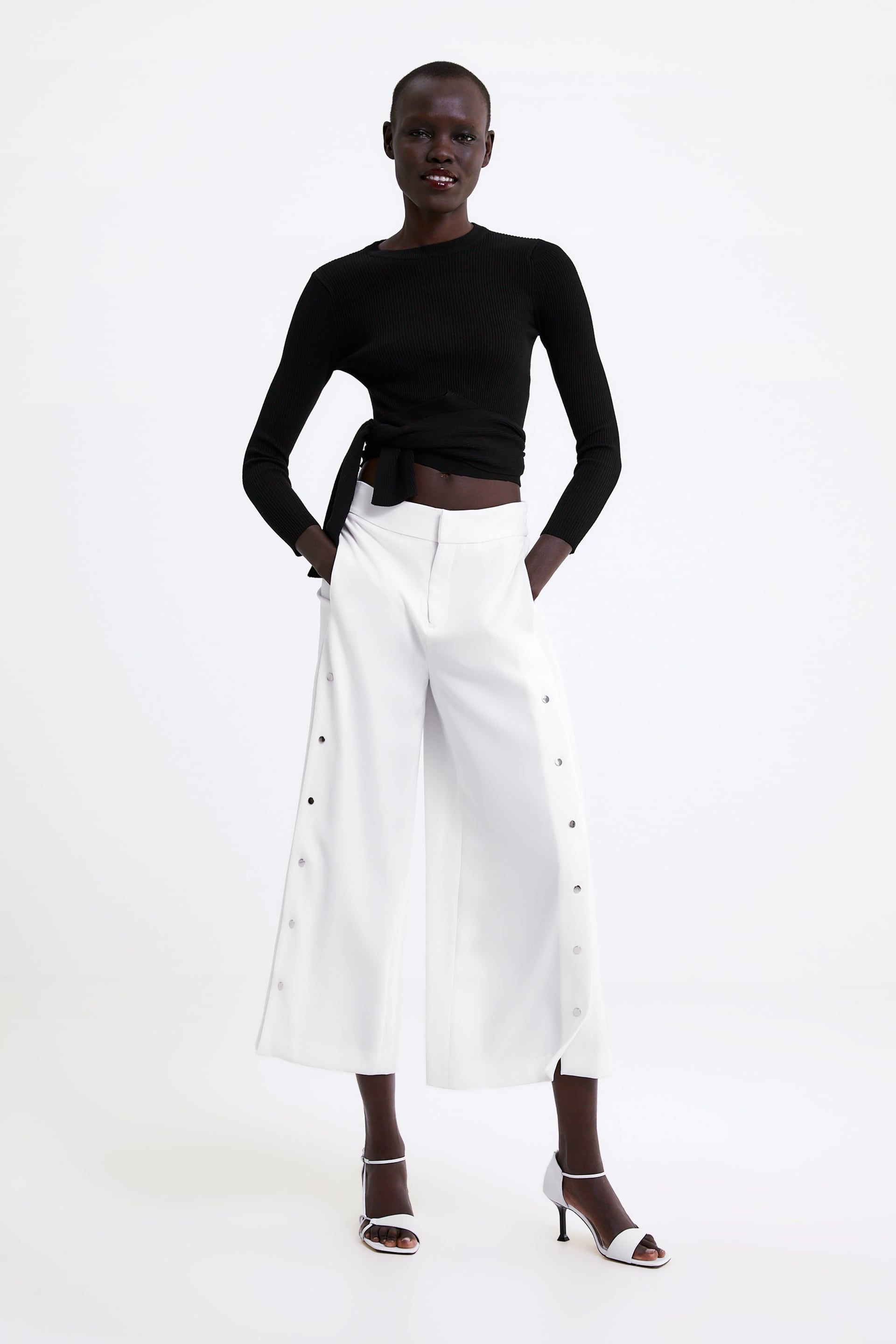 da2d84aa0cce WIDE LEG PANTS WITH APPLIQUÉ - View all-PANTS-WOMAN | ZARA United States