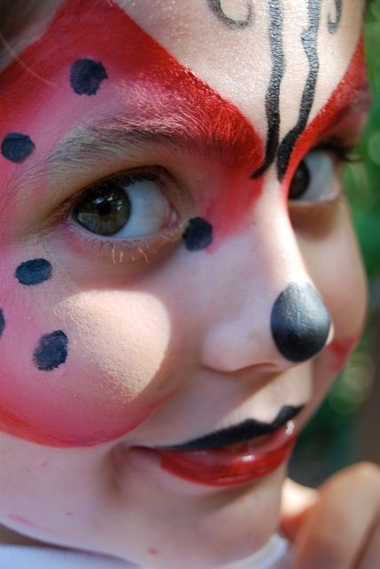 Photo of ladybug #makeup#kids#children#fantasy#colors#painted face#marieta#acuarelas#maqu…