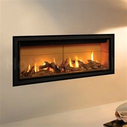 Gazco Studio Edge Wall Mounted Gas Fire Glass Fronted