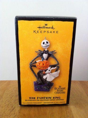 Hallmark Nightmare Before Christmas Ornaments.2008 Halloween Pumpkin King Nightmare Before Christmas