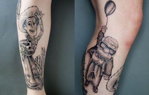 pixar tattoo - woody - mr. fredrickson