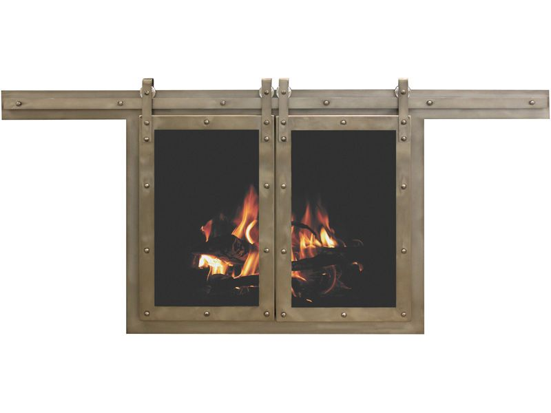 Rustic Fireplace Doors Stoll Industries Custom And Standard