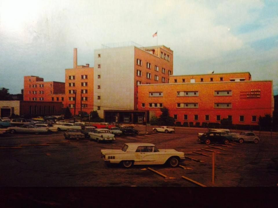 Akron general hospital 1960s we watched fireworks from