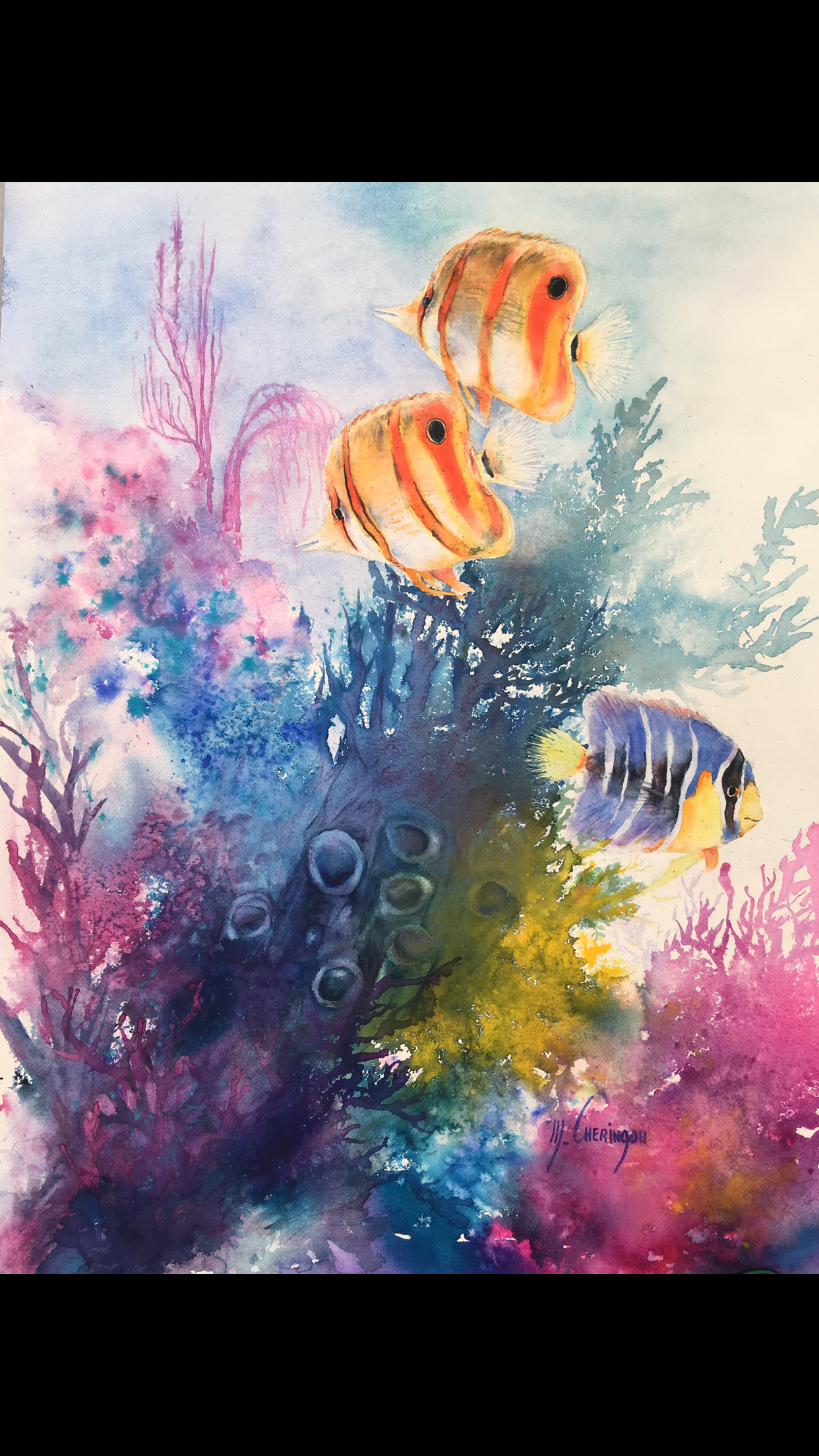 Épinglé sur Fonds marins aquarelle