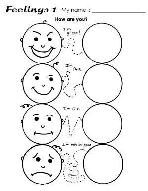 Feelings By Susie Kindergarten Worksheets Kindergarten Worksheets Printable Preschool Worksheets Emotions worksheets for kindergarten