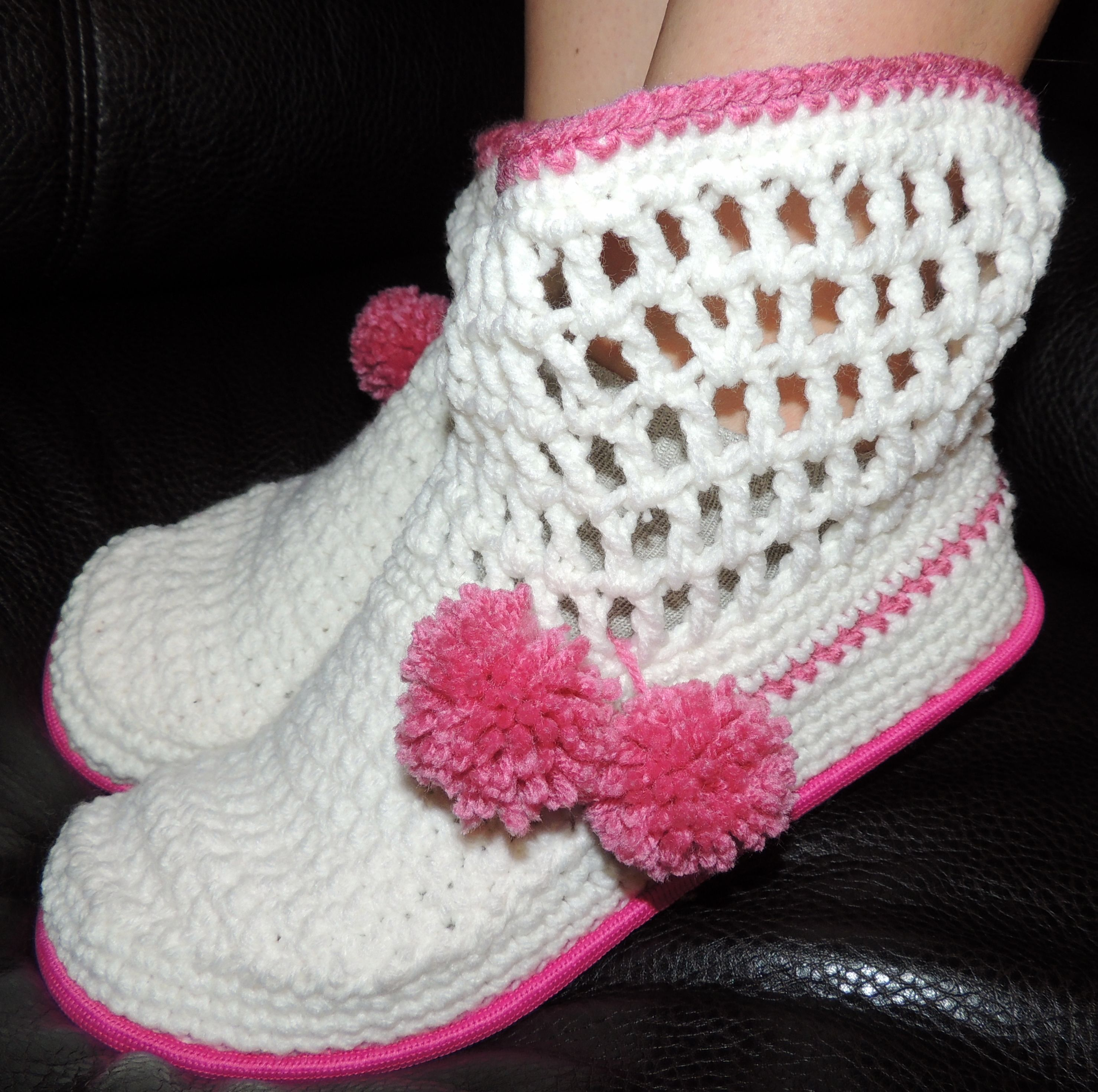 https://www.etsy.com/listing/180088308/hand-crocheted-boots-slippers ...