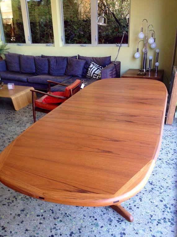 Huge Mid Century Danish Designed Benny Linden Dining Table Teak With