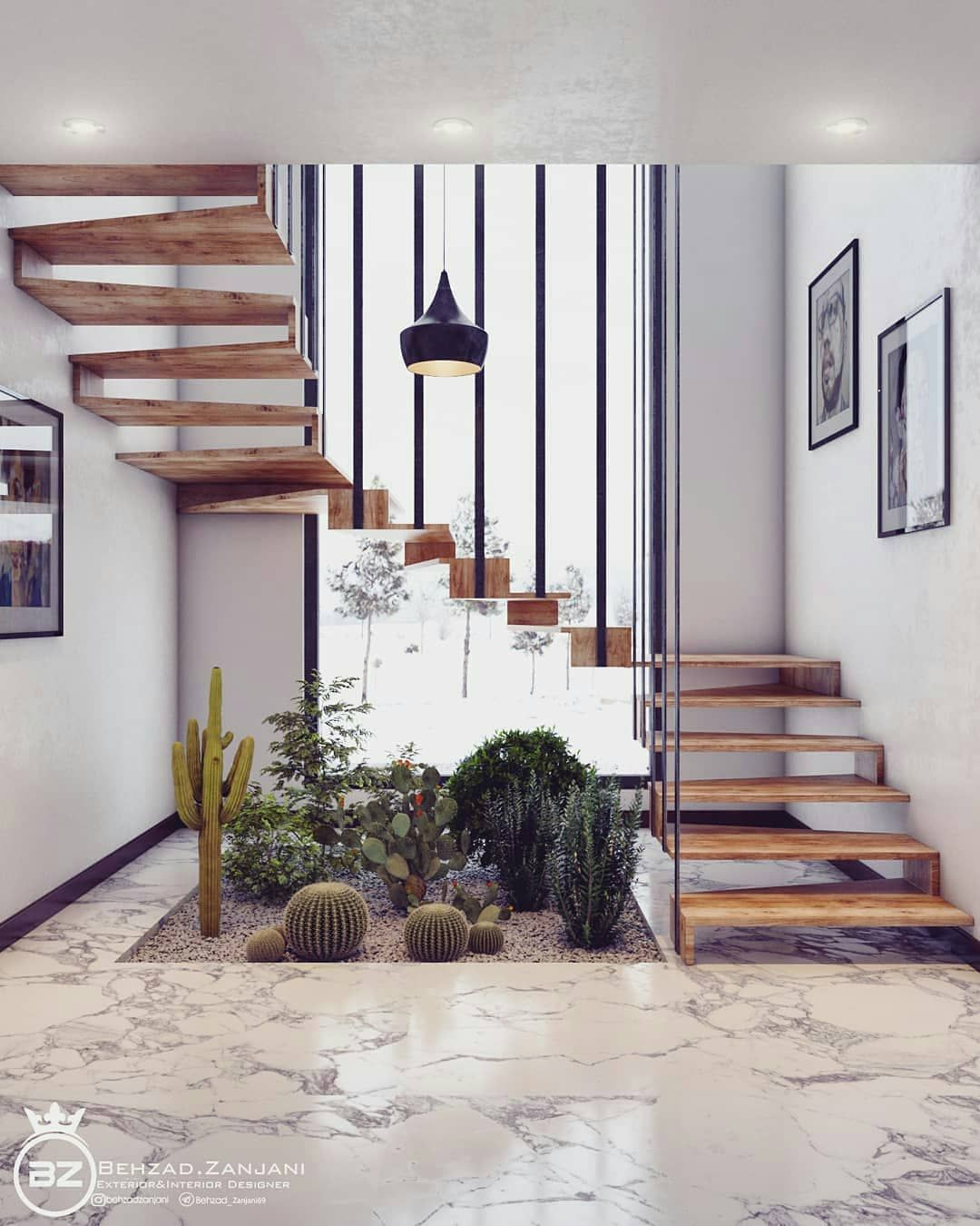 Staircase Design Modeling And Visualization By Behzadzanjani