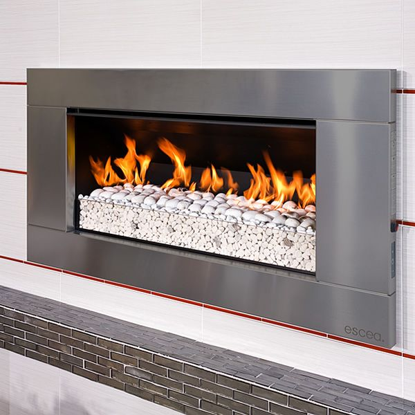 Escea Outdoor Gas Stainless Steel Fireplace Ferro Front Fireplace