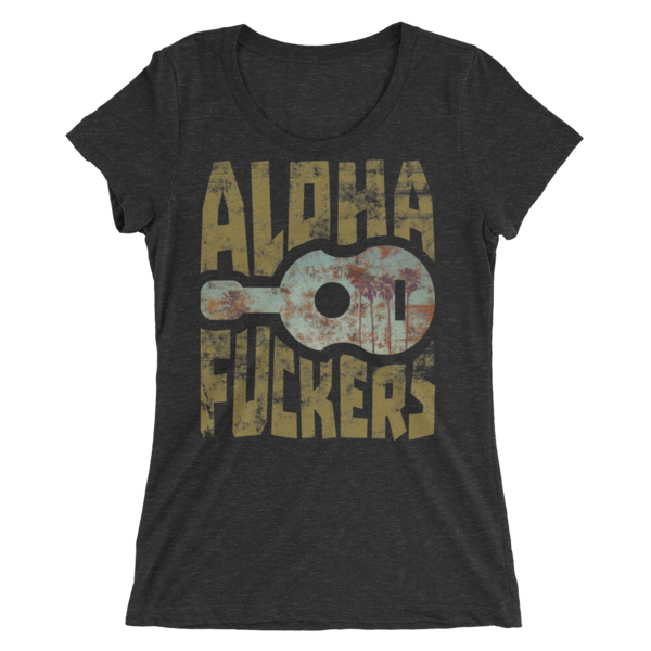 a77ae2610bd Women s Aloha Fuckers Palm Ukulele Short Sleeve T-shirt