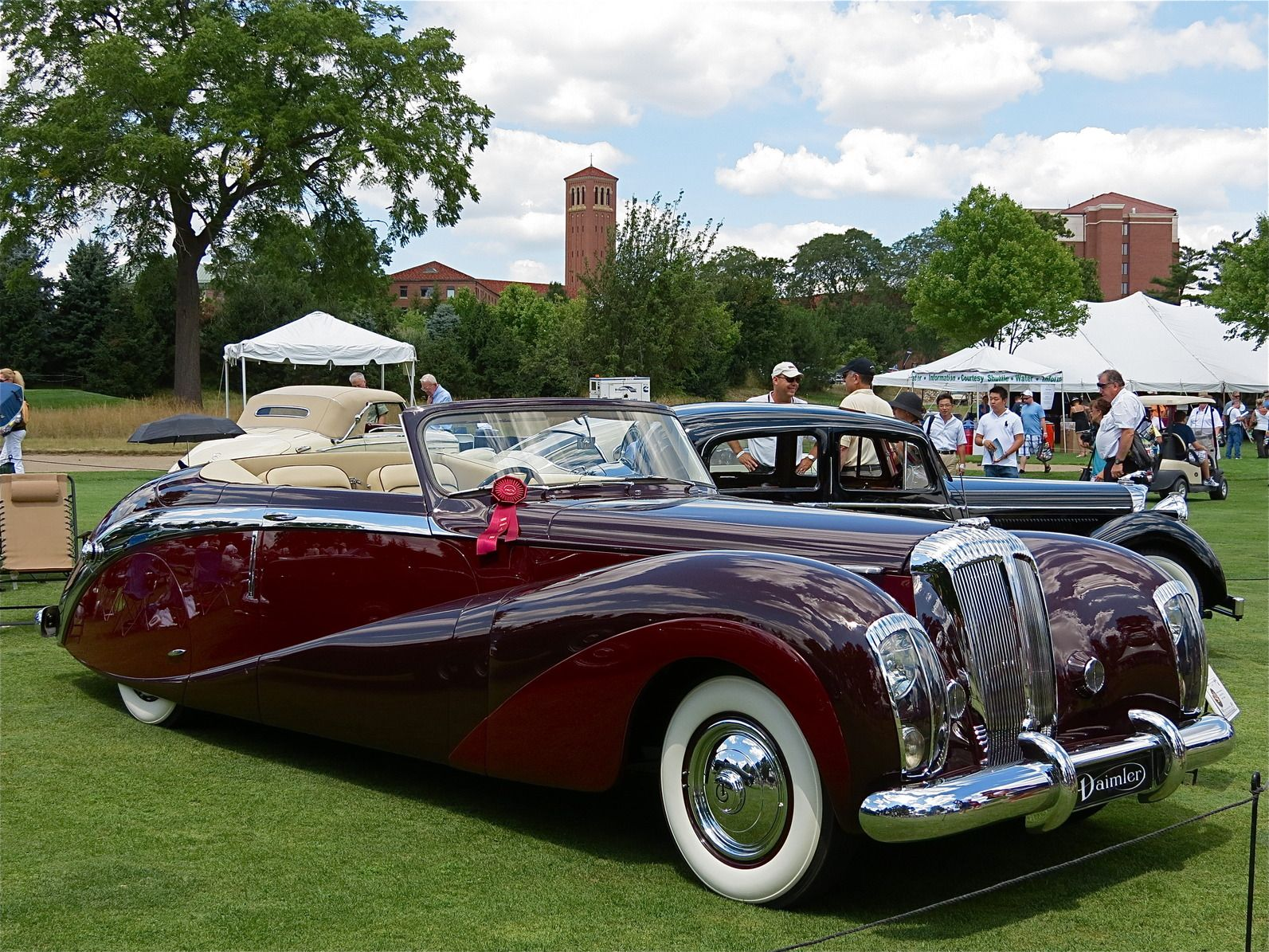 Concours d' Elegance of America: 1948 Daimler DE 36 Drophead Coupe by Hooper