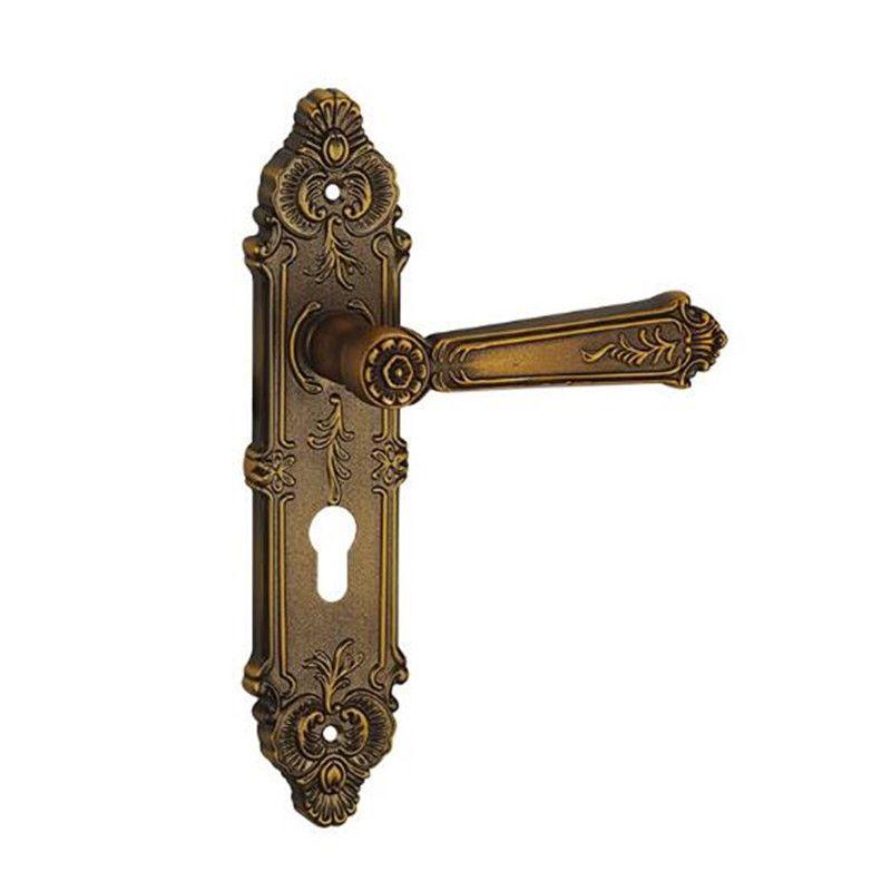 Copper Finish China Supplier Door Lock Traditional Key Lock Double Handle Door Locks Security Furniture Hardware Door Acce Traditional Doors Doors Door Handles